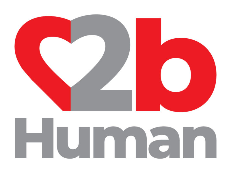 2bHuman.life Stacked Logo